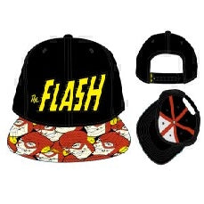 Bioworld Official Snapback- DC Comics Flash Halftone Snapback Hat One Size