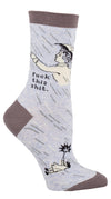 Blue Q Womens SW402 Cotton Crew Fashion Socks, Fuck This Shit, One Size