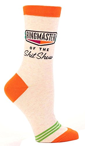 Blue Q Womens SW463 Cotton Crew Fashion Socks, Ringmaster Shitshow, One Size