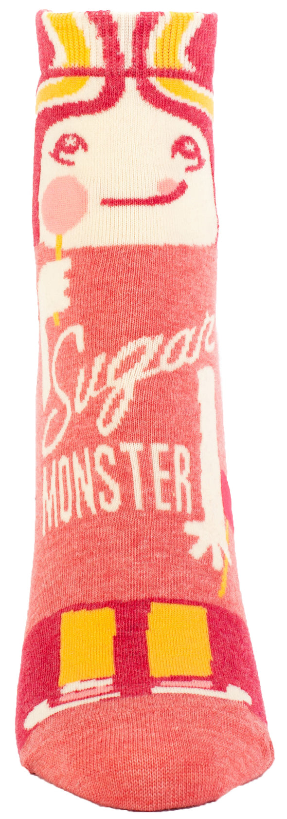 Blue Q Womens SW608 Cotton Ankle Fashion Socks, Sugar Monster, One Size