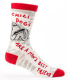 Blue Q Mens SW837 Cotton Crew Fashion Socks, Chilidogs, One Size