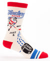 Blue Q Mens SW841 Cotton Crew Fashion Socks, Hockey, One Size