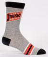 Blue Q Mens SW854 Cotton Crew Fashion Socks, Giant Music Snob, One Size