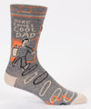 Blue Q Mens SW857 Cotton Crew Fashion Socks, Here Comes Cool Dad, One Size