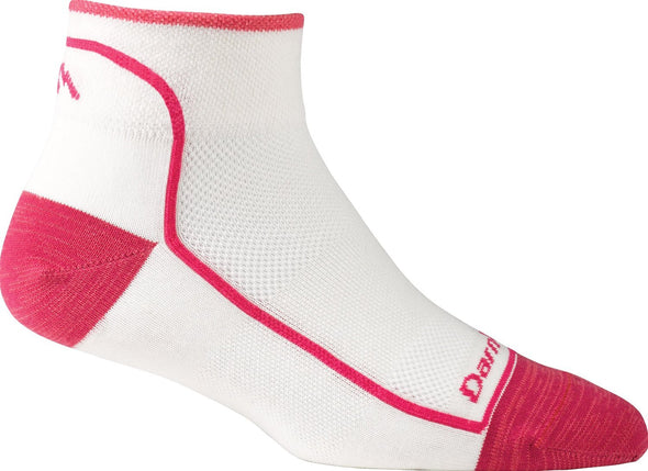 Darn Tough Womens 1709 Merino Wool 1/4 Crew Sports Socks