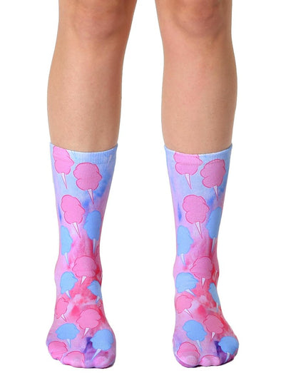 Living Royal Unisex Crew Fashion Socks, Cotton Candy, One Size
