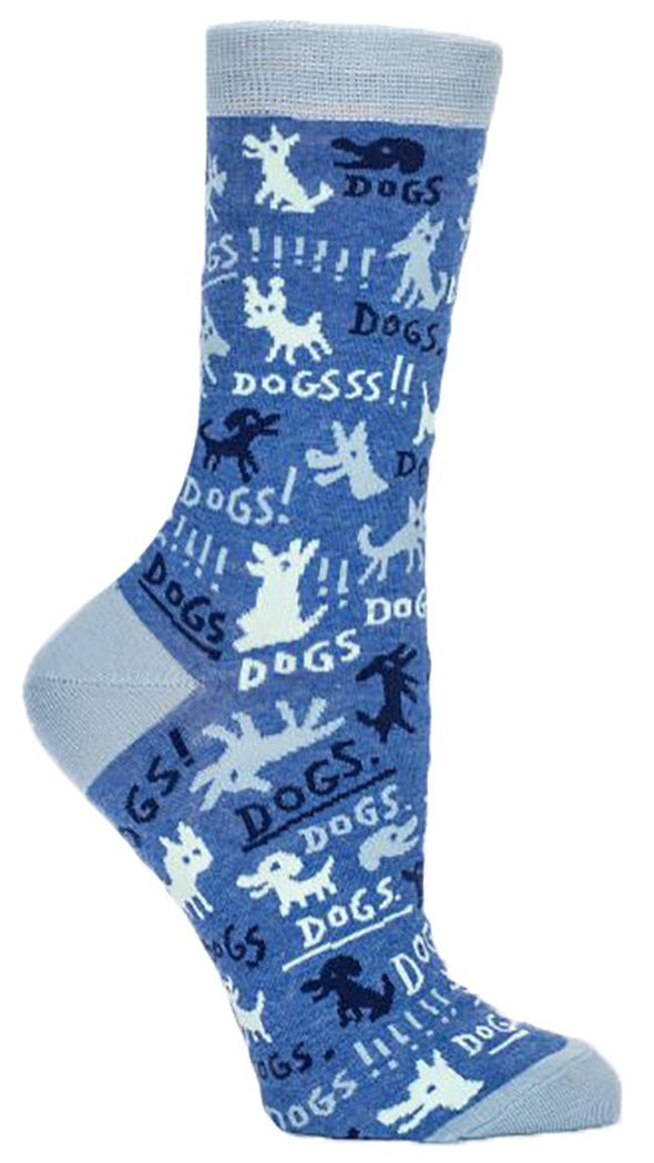 Blue Q Womens SW464 Cotton Crew Fashion Socks, Dogs!, One Size