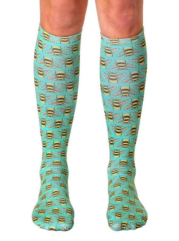 Living Royal Unisex Knee High Fashion Socks, Bee, One Size