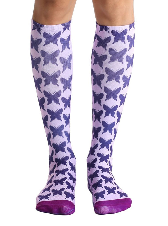 Living Royal Unisex Knee High Fashion Socks, Butterfly, One Size