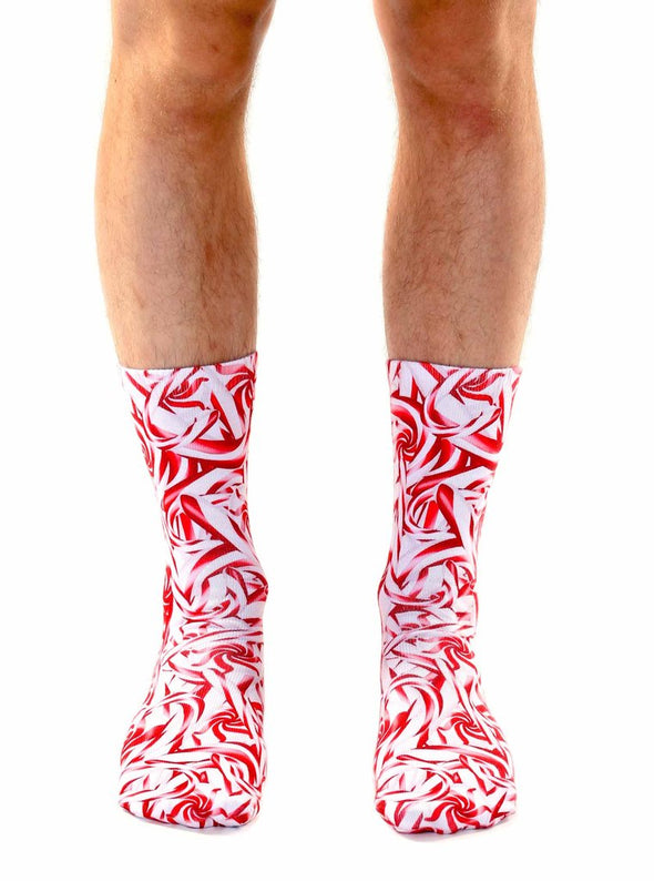 Living Royal Unisex Crew Fashion Socks, CANDY CANE, One Size