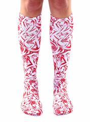 Living Royal Unisex Knee High Fashion Socks, Candy Cane, One Size