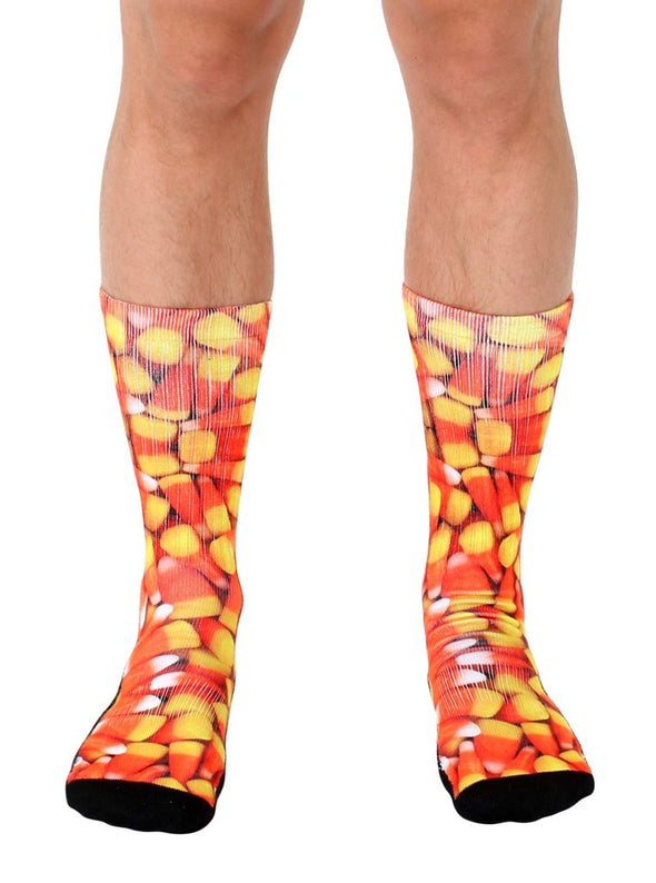 Living Royal Unisex Crew Sports Socks, Candy Corn, One Size