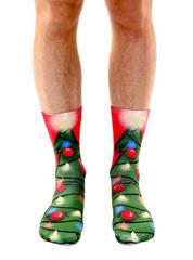 Living Royal Unisex Crew Fashion Socks, Christmas Tree, One Size