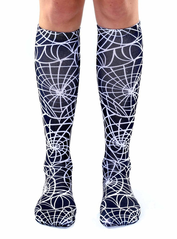 Living Royal Unisex Knee High Fashion Socks, Cobweb, One Size