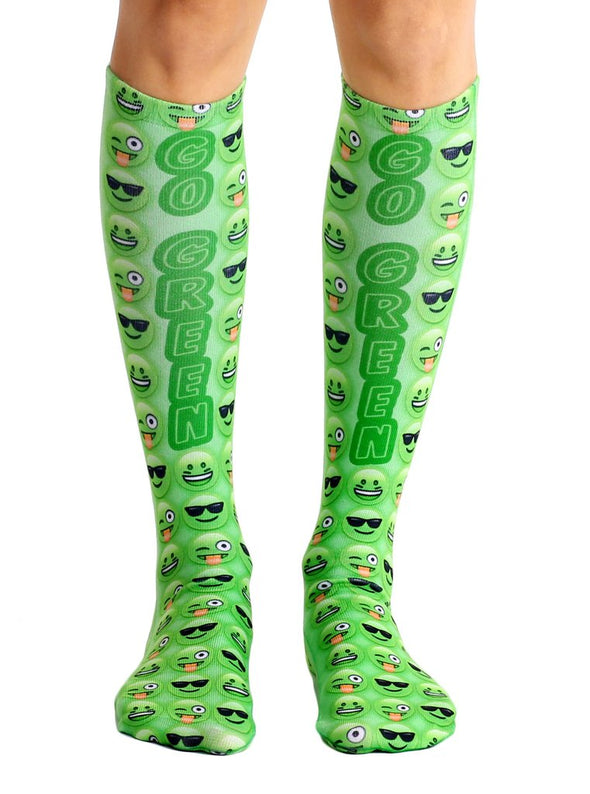 Living Royal Unisex Knee High Fashion Socks, Go Green, One Size
