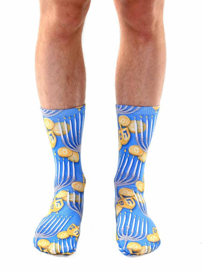Living Royal Unisex Crew Fashion Socks, Hanukkah, One Size