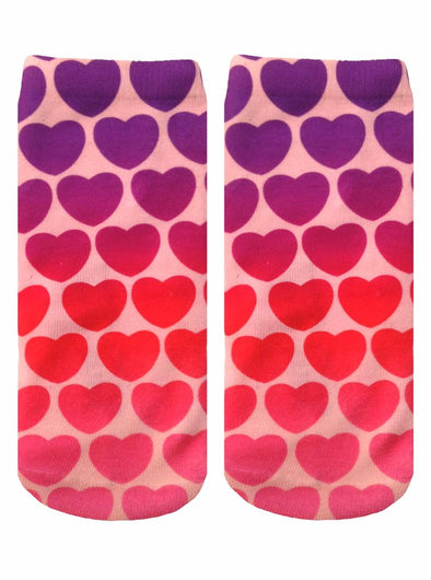 Living Royal Unisex Crew Fashion Socks, Hearts, One Size
