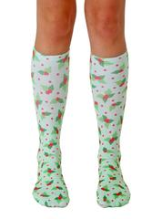 Living Royal Unisex Knee High Fashion Socks, Holly, One Size