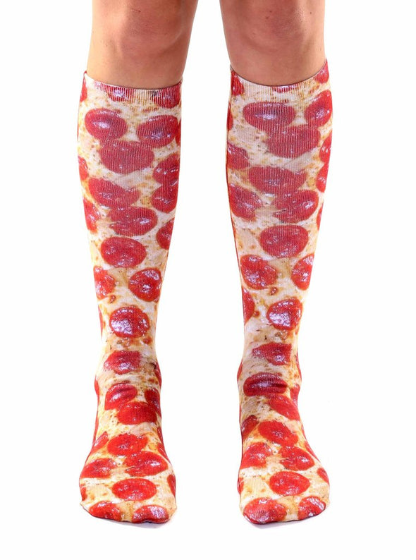 Living Royal Unisex Knee High Fashion Socks, Pizza, One Size