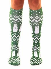 Living Royal Unisex Knee High Fashion Socks, Ugly Sweater Snowman, One Size