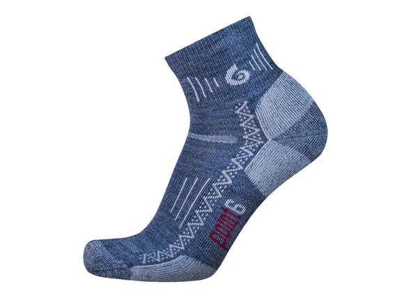 Point6 Unisex 1533 Merino Wool 1/4 Crew Hiking Socks