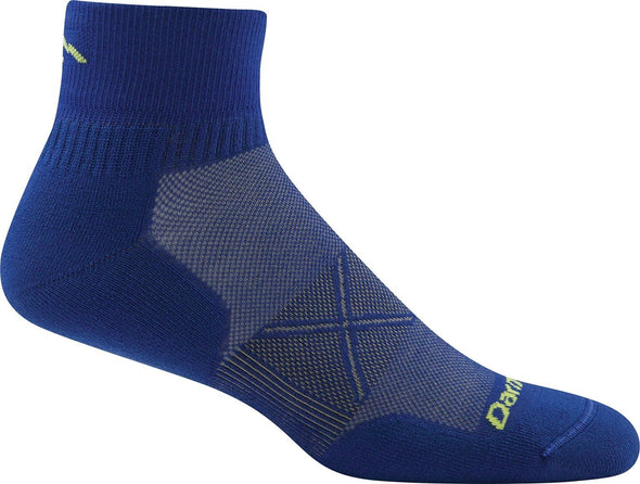 Darn Tough Mens 1770 Merino Wool 1/4 Crew Running Socks