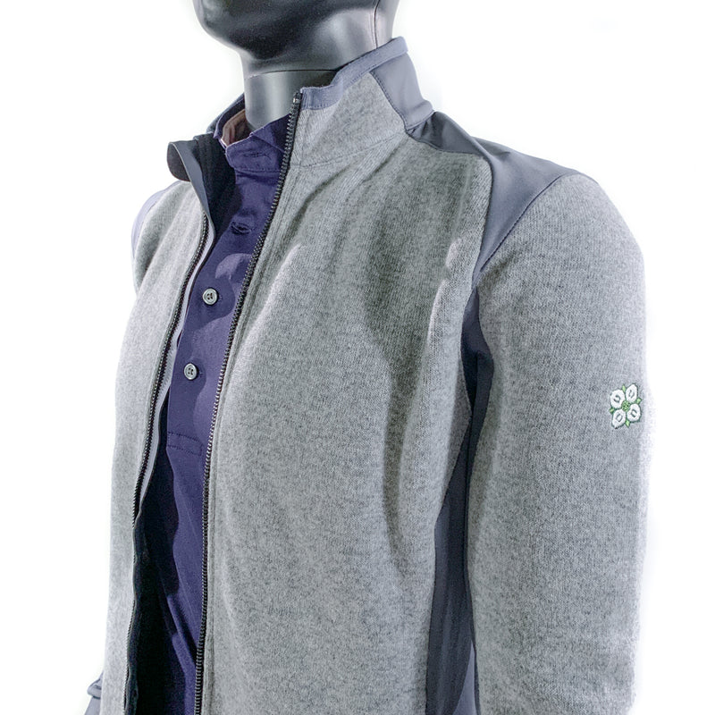 The Sequoia Luxe Full Zip Jacket - Light Grey