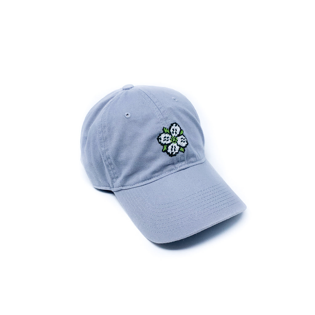 Needlepoint Dogwood Logo Hat in Grey