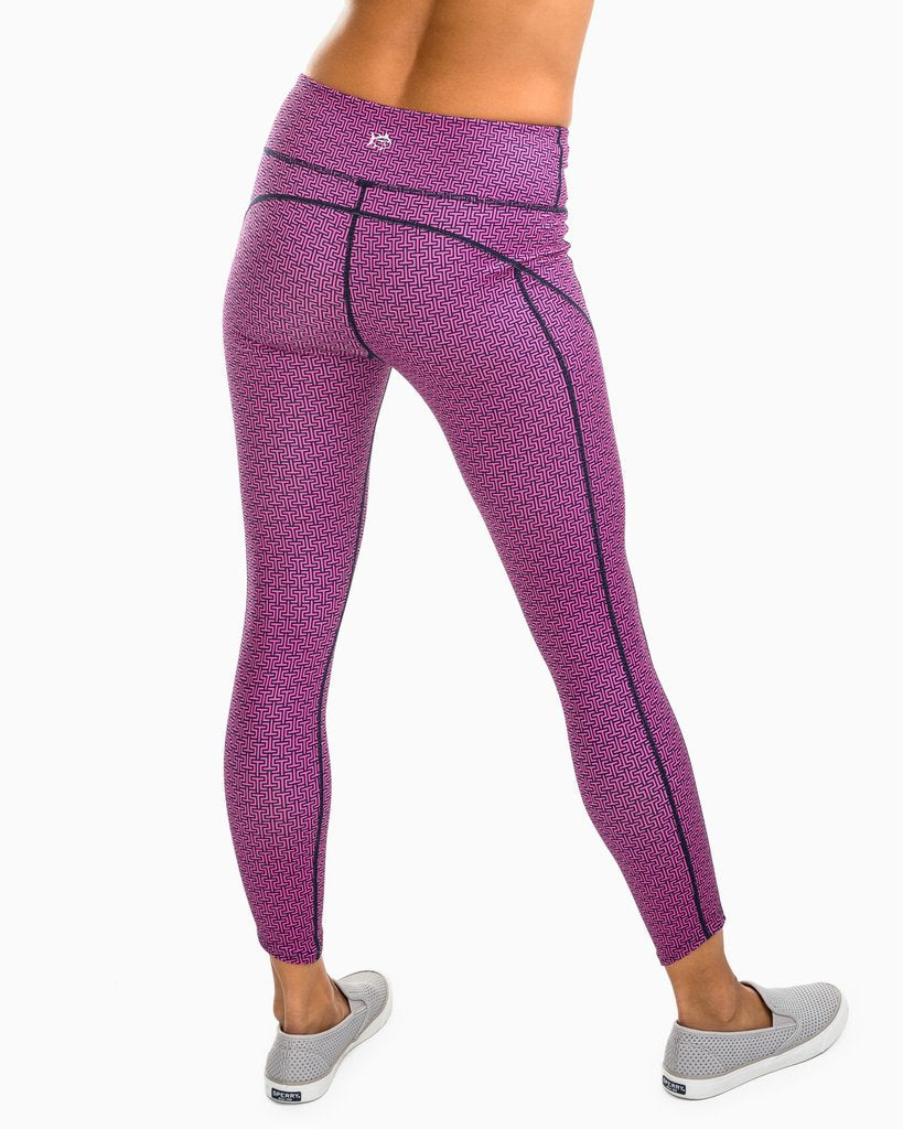 Alexandria Pink And Navy Yoga Pants