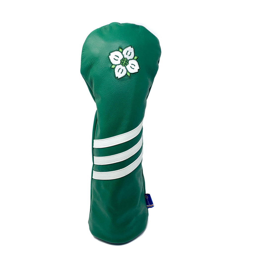 Dogwood Logo Green w/ White Stripe Leather Driver Cover Green