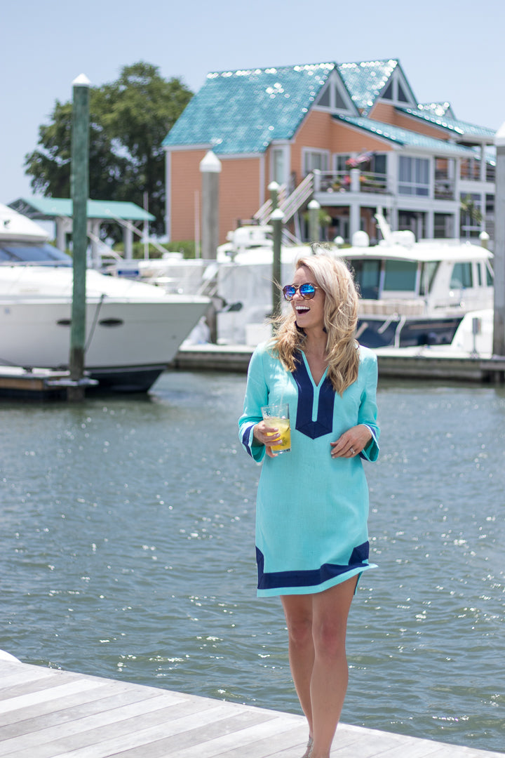 Wilmington Teal Long Sleeve Tunic