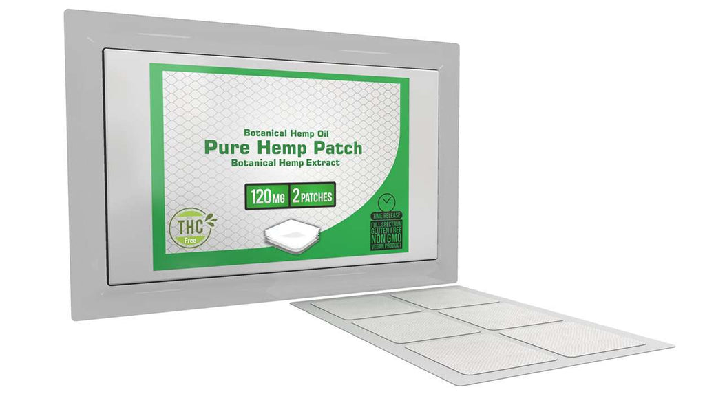 Pure Hemp Patches - 2 Patches - 120mg Each (240mg Total)