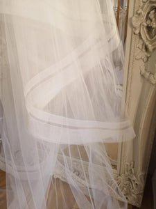 Double horsehair edge veil