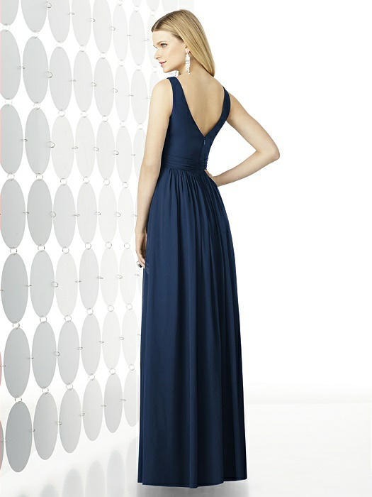 Scooped neckline dress in midnight