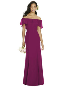Square Neck Sleeved Maxi Dress