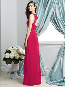 Full Length Chiffon Dress - Size 10 Fuchsia