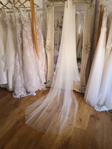 Italian tulle cathedral length veil
