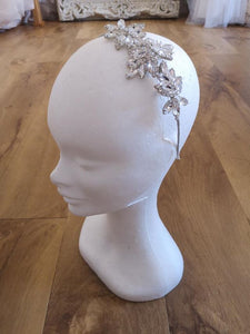 SILVER CRYSTAL SIDE TIARA