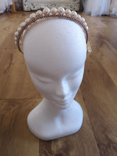 Load image into Gallery viewer, PEARL AND CRYSTAL CROWN HAIRBAND