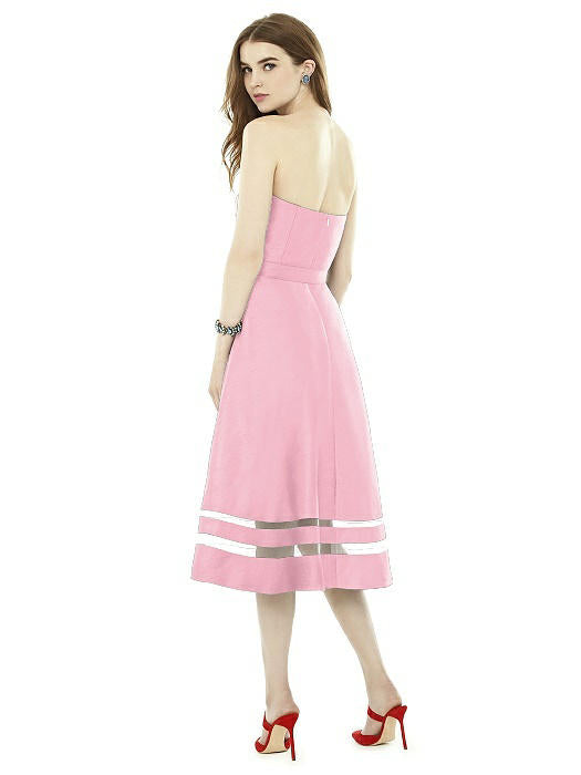 Strapless soft pink dress