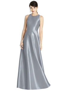 Satin full length gown