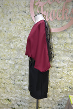Load image into Gallery viewer, Black & Burgundy Dress