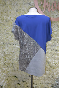 Blue and Silver Tri Shirt
