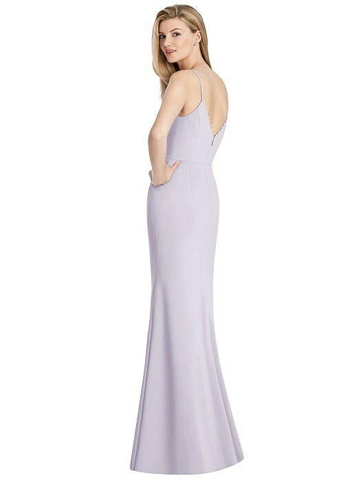 Crepe dress in soft lilac