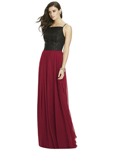 chiffon skirt in burgundy