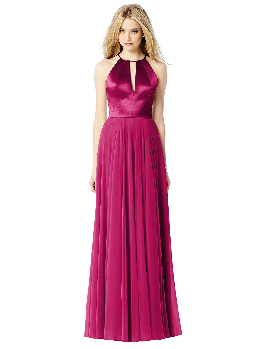 Purple full length occasion dress