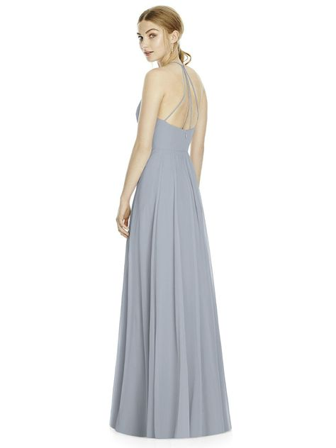 Light Blue Chiffon Full Length - Size 14