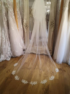 Lace and sparkle veil