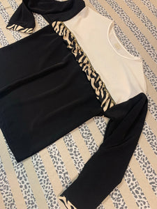 Ivory & Black Zebra Top