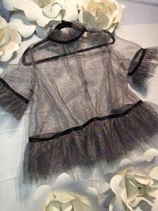 Metallic Tulle Top